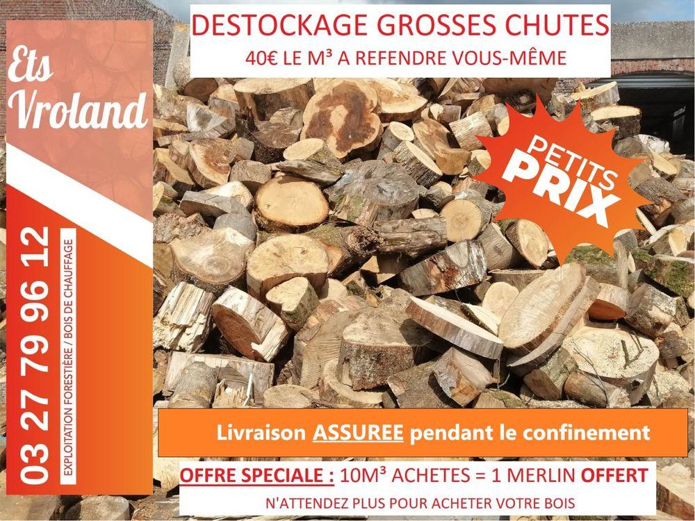GROSSES CHUTES DE BOIS A REFENDRE - DESTOCKAGE 40 Cambrai (59)