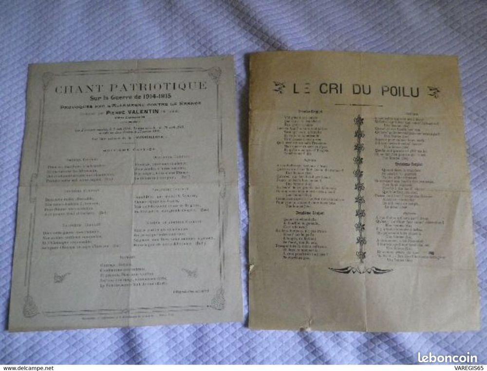 Guerre 14/18 - CHANT PATRIOTIQUE  - LE CRI DU POILU 1916 8 Tarbes (65)