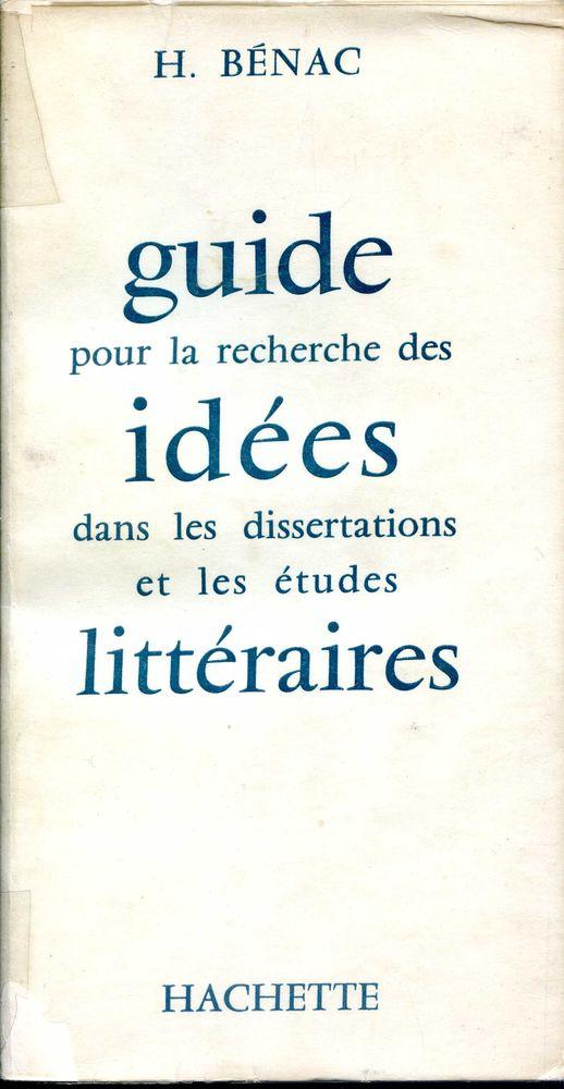 GUIDE DES IDEES LITTÉRAIRES - H. Bénac 5 Rennes (35)