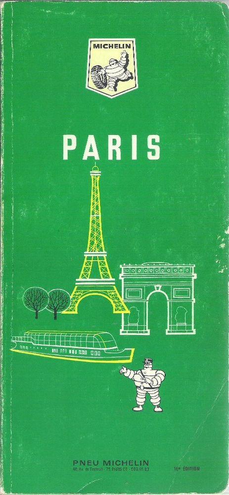 """Guide Vert Michelin """"Paris"""" Livres et BD"""