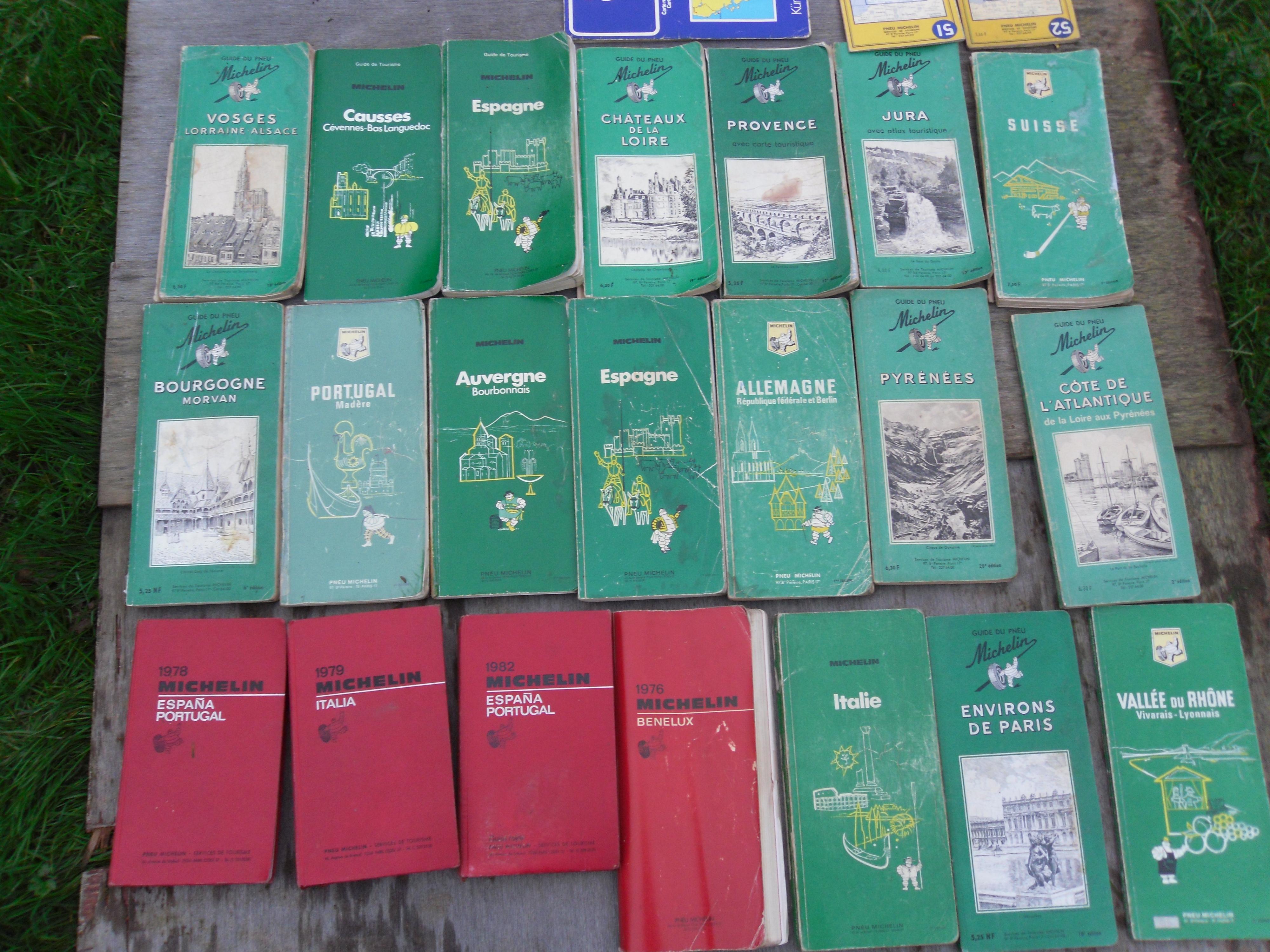 Lot de guides verts Michelin et guides rouges Michelin 15 Barentin (76)
