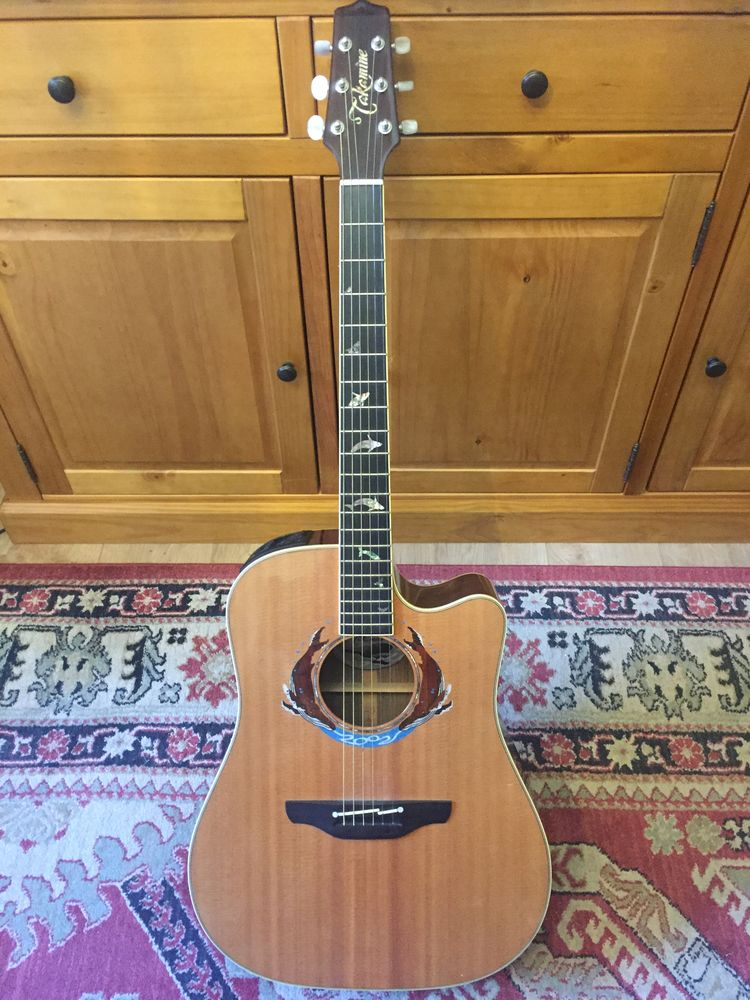 Guitare takamine electro acoustique limited edition 2002 850 Nice (06)