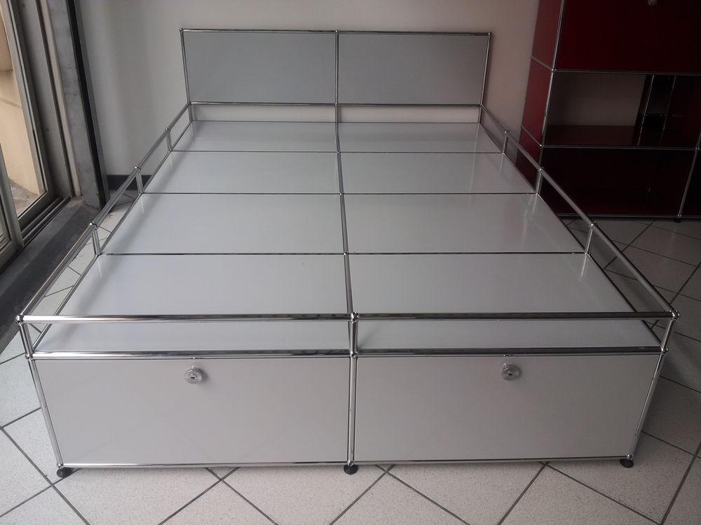 Lit usm Haller 200x150 gris ultra clair et rangements 2600 Provins (77)