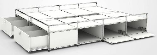 Lit usm Haller 200x160 blanc rangements tiroirs 3800 Provins (77)