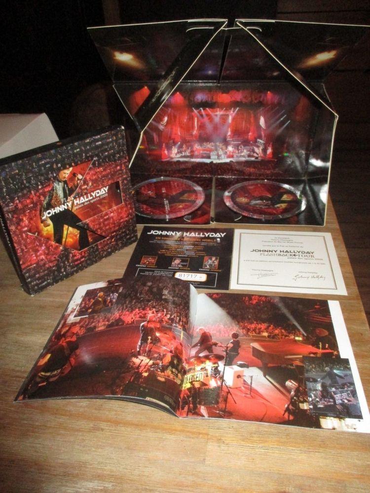 2 CD J. HALLYDAY FLASHBACK TOUR PALAIS des SPORTS 2006 N° 32 Reims (51)