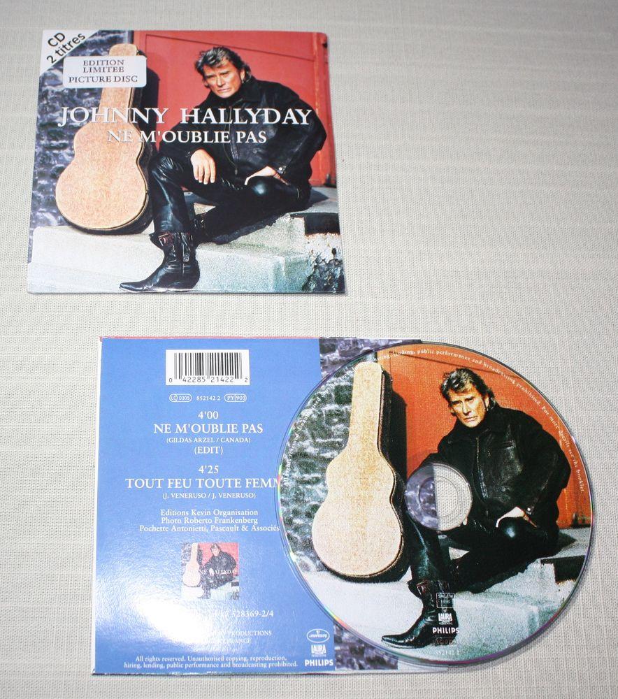 J. Hallyday. Picture CD  2 T. 1995. Ne m'oublie pas. 25 Bavay (59)