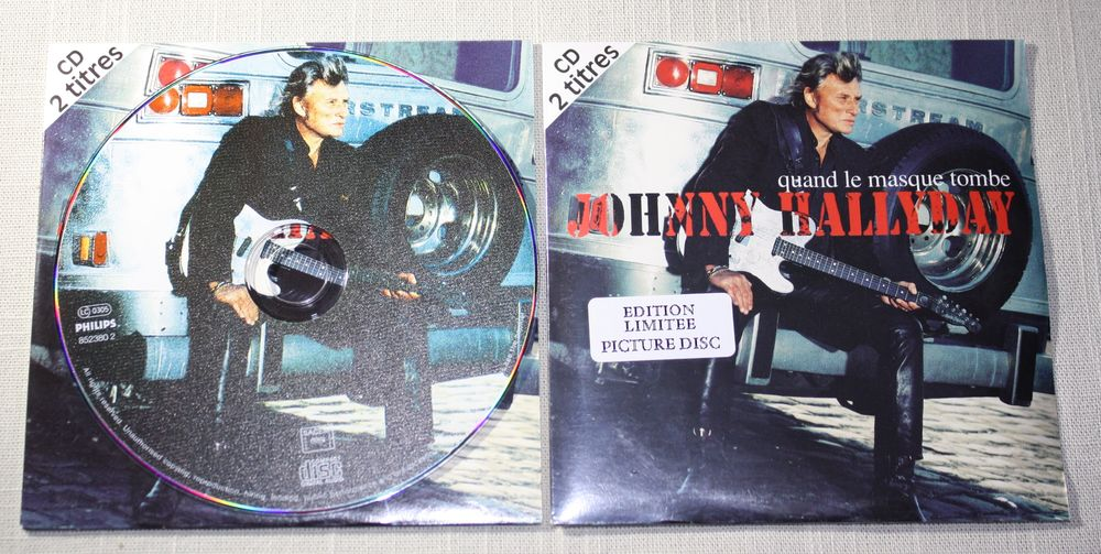 J. Hallyday. Picture CD 2 T. 1995. Quand le masque tombe 25 Bavay (59)