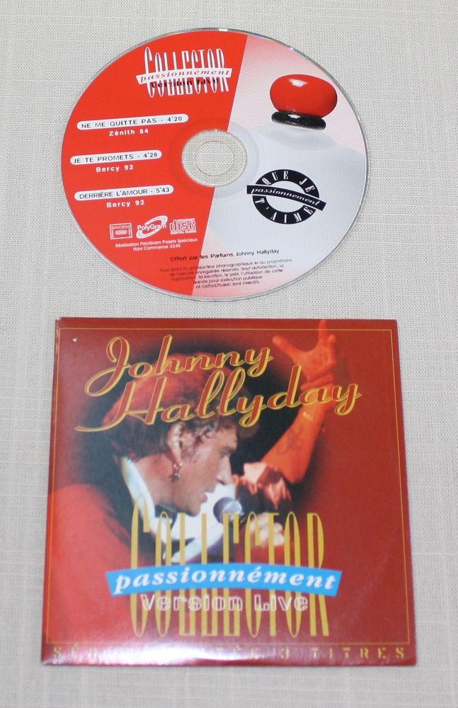 J. Hallyday CD 3 Titres hors commerce. Passionnément. TBE 7 Bavay (59)