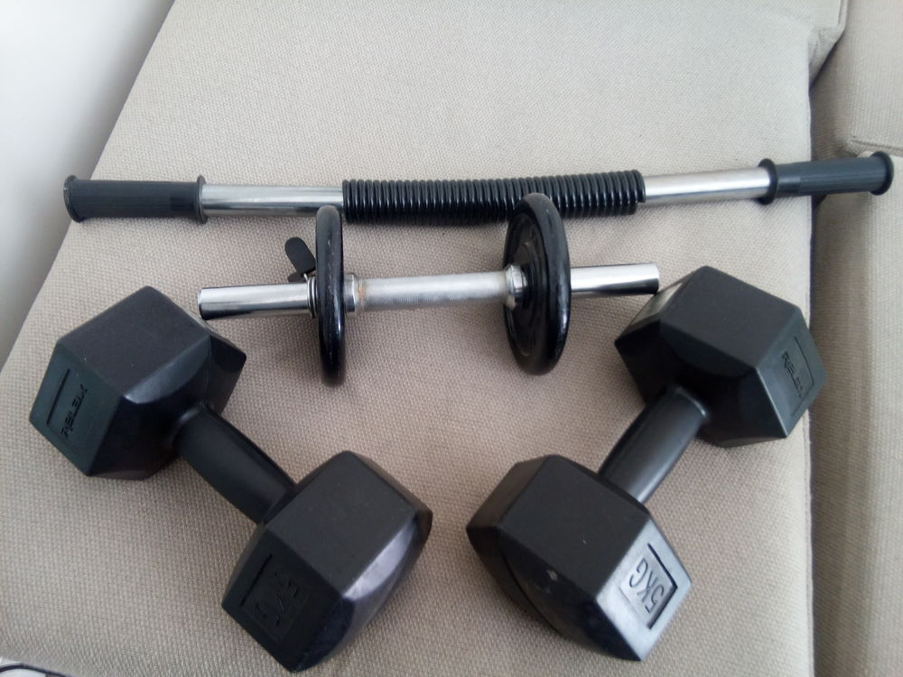 Halteres musculation + Barre musculation 75 Issy-les-Moulineaux (92)