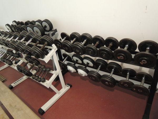 Haltères musculation sur rack 2000 Saint-Astier (24)