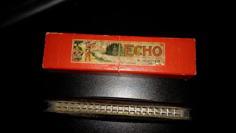 Harmonica occasion, Hohner Echo, L 15cm, 40 trous 0 Le Puy-Sainte-Réparade (13)