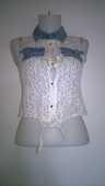 Haut femme transparent Dentelle  et jeans Marque SHK 15 Talange (57)