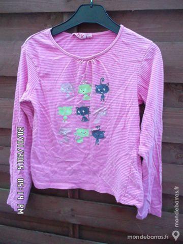 haut rose chats t.12 ans kiki60230 1 Chambly (60)