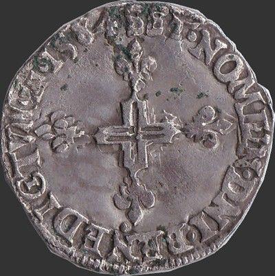 Henri III quart d'écu 1583T Nantes, point 5ème 80 Couzeix (87)