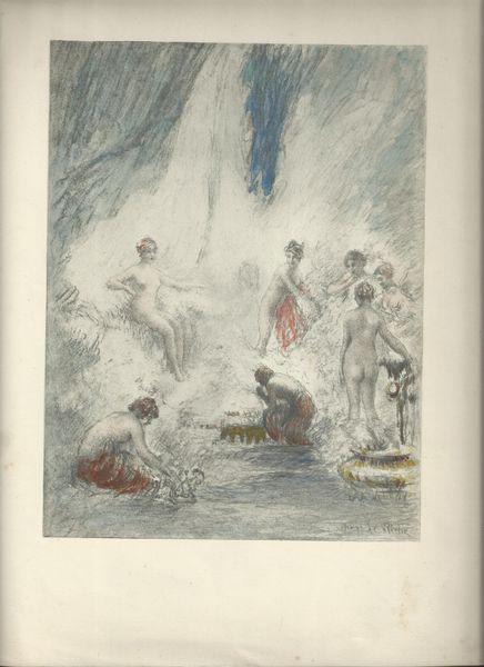 Henri Le Riche lithographies ou gravures 410 Lourdes (65)