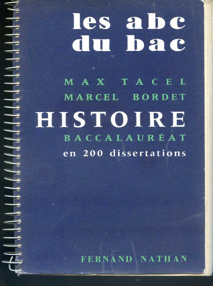 LES ABC DU BAC - Histoire - Max Tacel, Livres et BD