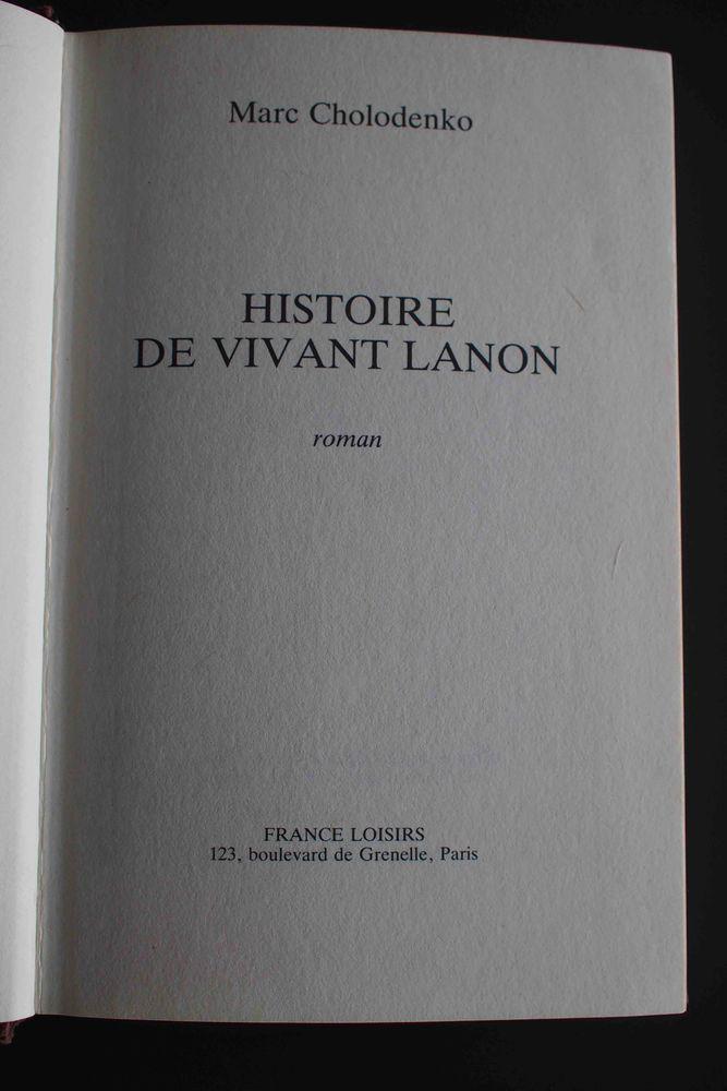 Histoire de Vivant Lanon - Marc Cholodenko, 2 Rennes (35)