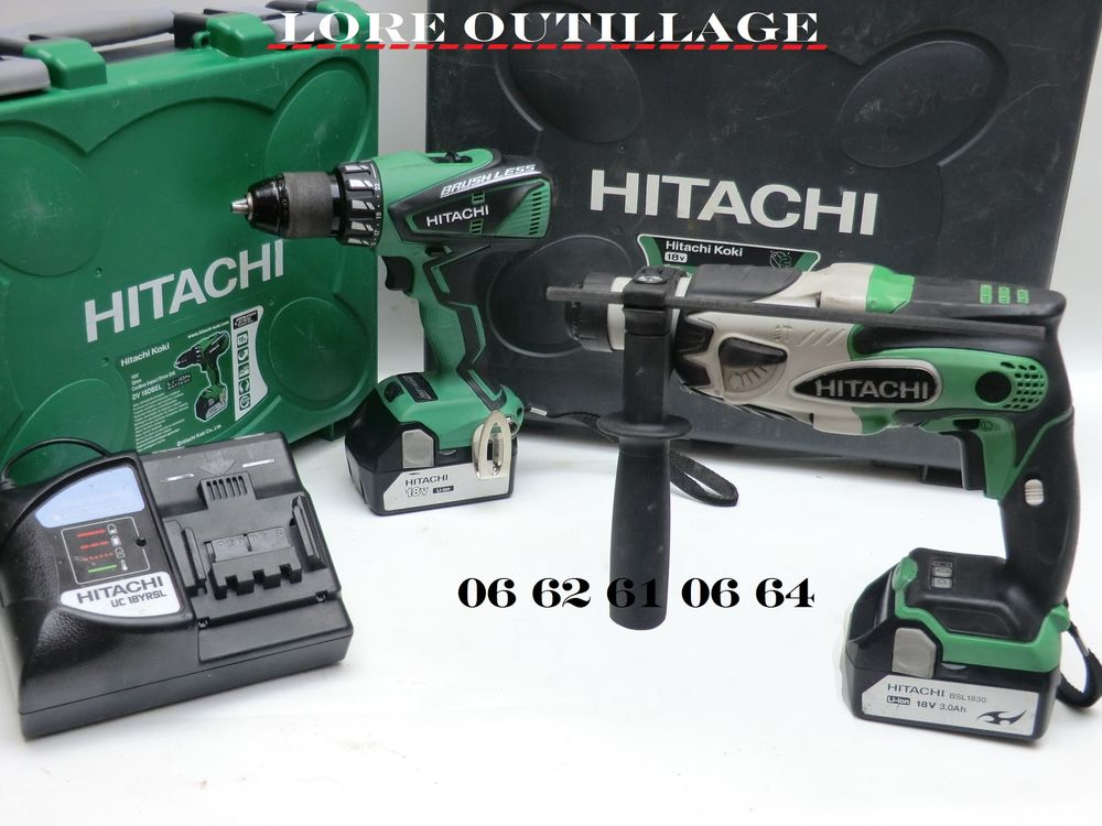 HITACHI DH 18DSL + DV 18DBEL Bricolage