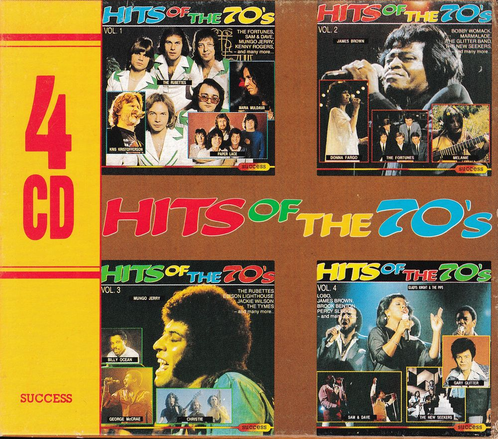 CD    Hits Of The 70's     Coffret 4 Volumes 19 Antony (92)