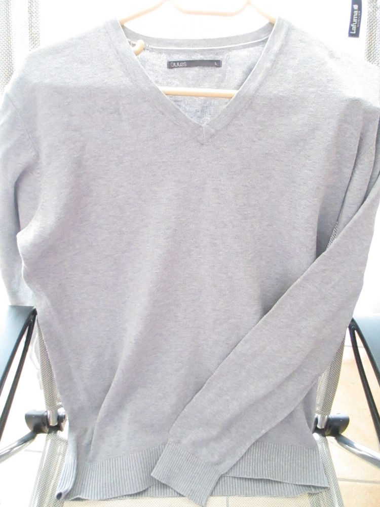 Homme tee shirt gris Jules L  6 Limeil-Brévannes (94)