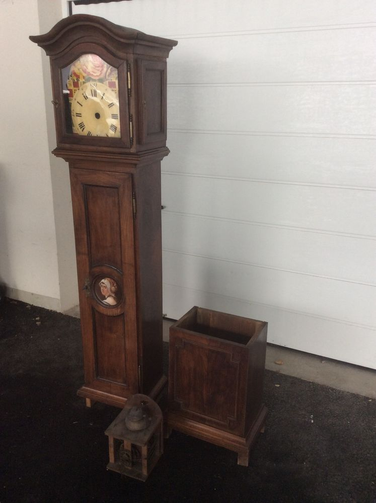 horloge ancienne en chêne 425 Mulhouse (68)