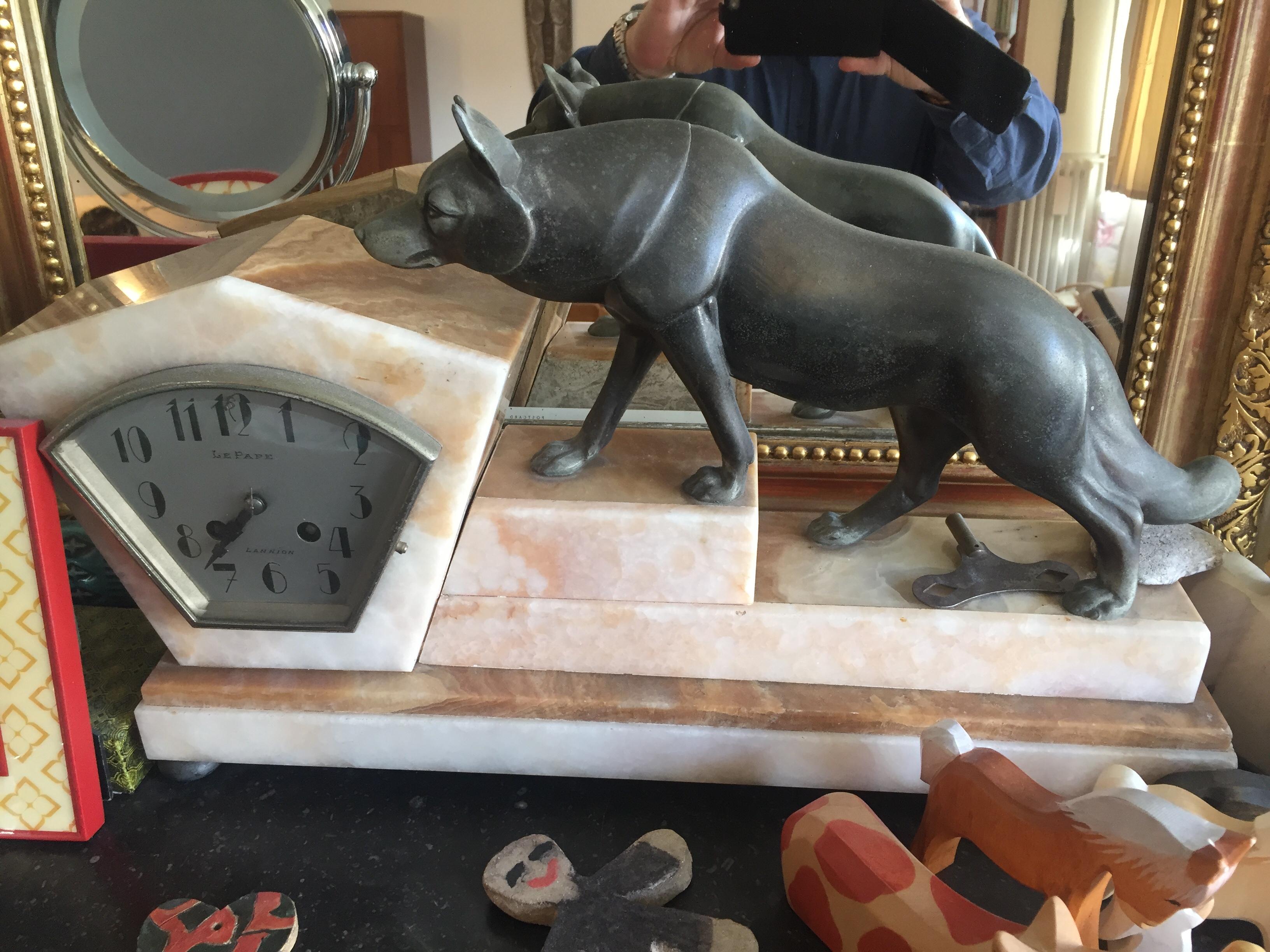 Horloge Art DECO marbre rose avec Régule 300 Croissy-sur-Seine (78)