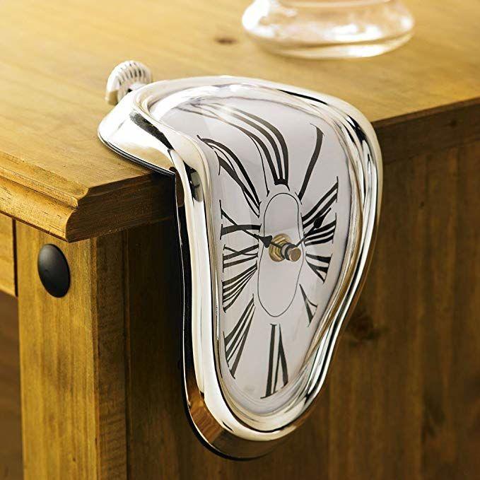 Horloge montre molle de SalvaDore DALI Boitier chromé, Mouve 20 Marseille 13 (13)