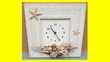 Horloge pendule coquillages thèmes mer NEUF