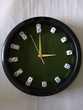 Horloge piste de dés ronde plastique Décoration