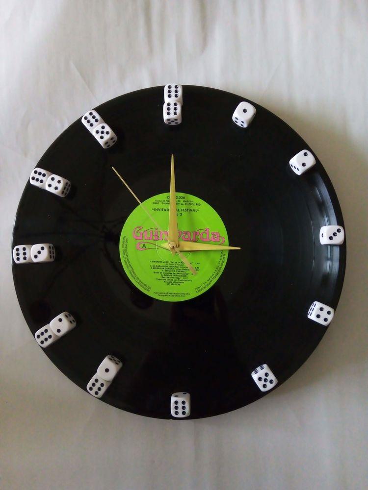 Horloge vinyl recyclée Décoration