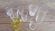 Huit petits verres en mélanges Cuisine