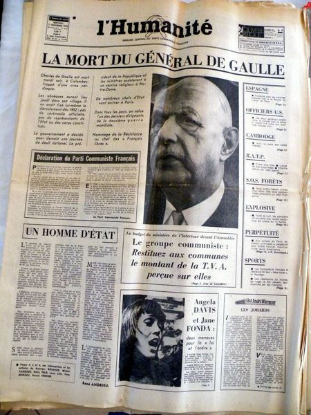 L'Humanite 11 Novembre 1970  20 Viriat (01)