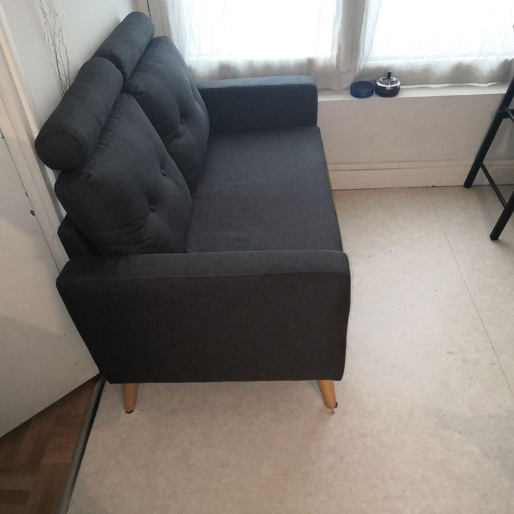IBRA Canapé droit 2 places - Tissu gris - Scandinave 180 Nanterre (92)