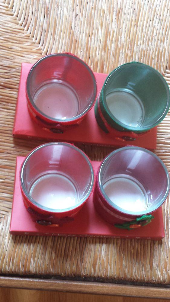 4 pot identiques en verre décorés pour noël 0 Mérignies (59)