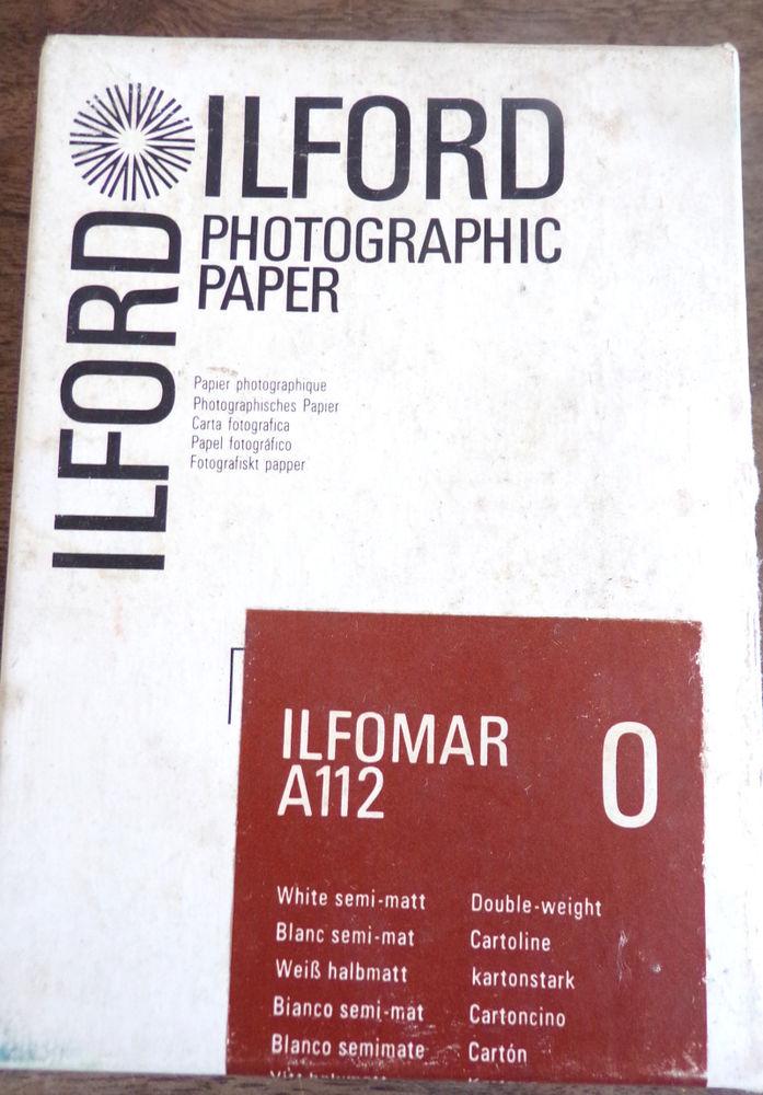 Ilford papier photographique argentique A112 blanc semi-mat 14 Laval (53)