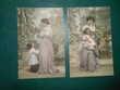 CPA illustrées serie de 10 femme et fillette 68G4