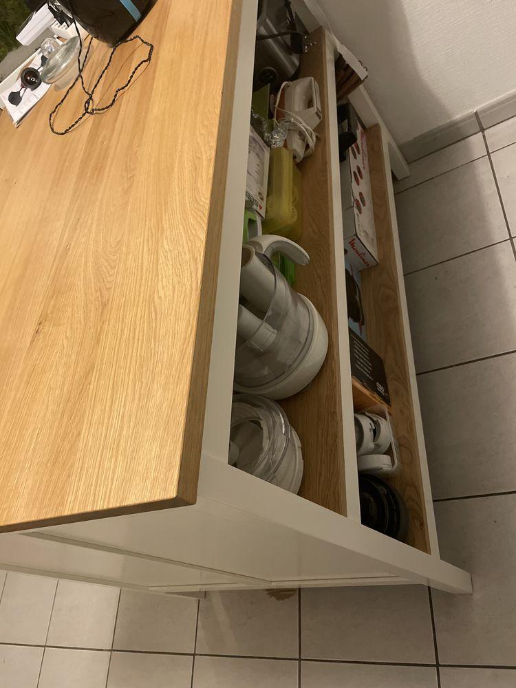 Îlot IKEA TORNVIKEN Îlot pour cuisine, PAS DE CHAISE AVEC, blanc cassé/chêne12 150 Blagnac (31)