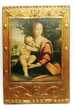 Image religieuse sur bois doré