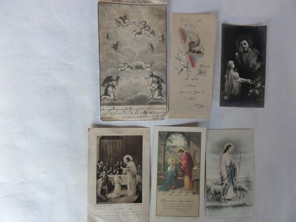 6 images religieuses 1815-1900-1934-1937-1938-1950 30 Nanterre (92)