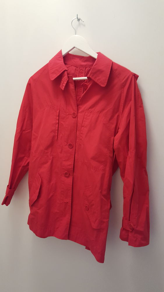 Impermeable trench new man rouge T40 8 Marseille 9 (13)