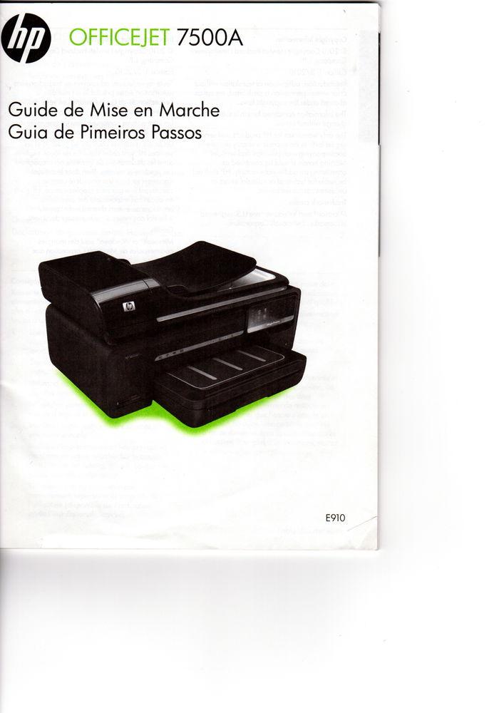 imprimante HP 7500 A , Format A 3 Matériel informatique