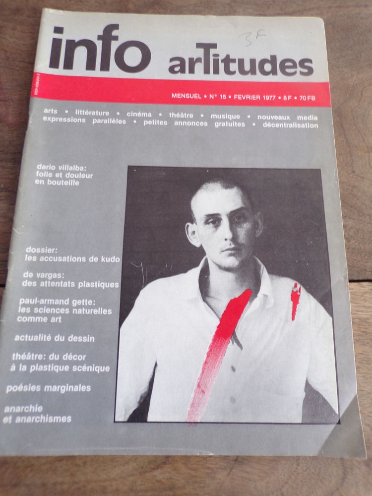 Info artitudes n° 15 Dario Villalba février 1977 3 Laval (53)