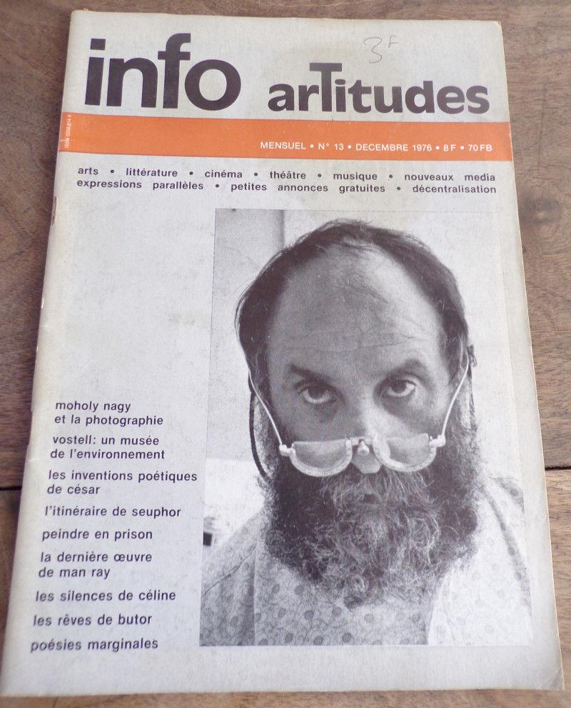 Info artitudes n° 13 Moholy Nagy Vostell César 3 Laval (53)
