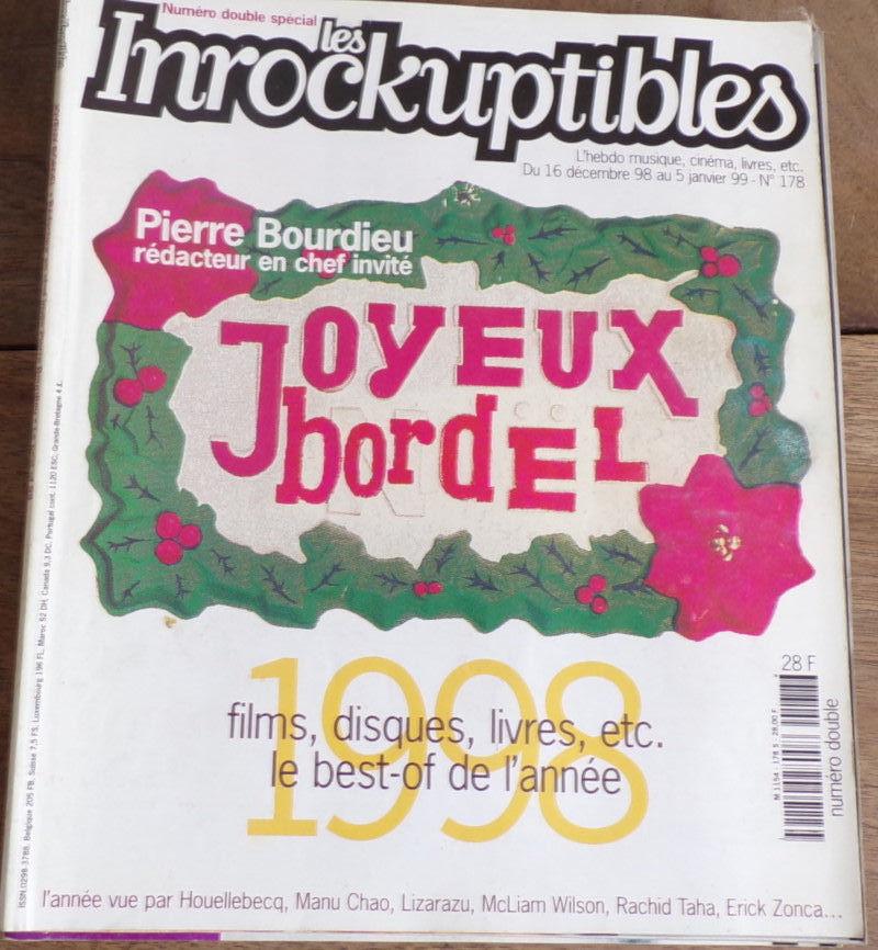 les inrockuptibles Pierre Bourdieu n° 178  janvier 1999 4 Laval (53)