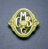 Insigne CMBG en métal doré 10 Montargis (45)