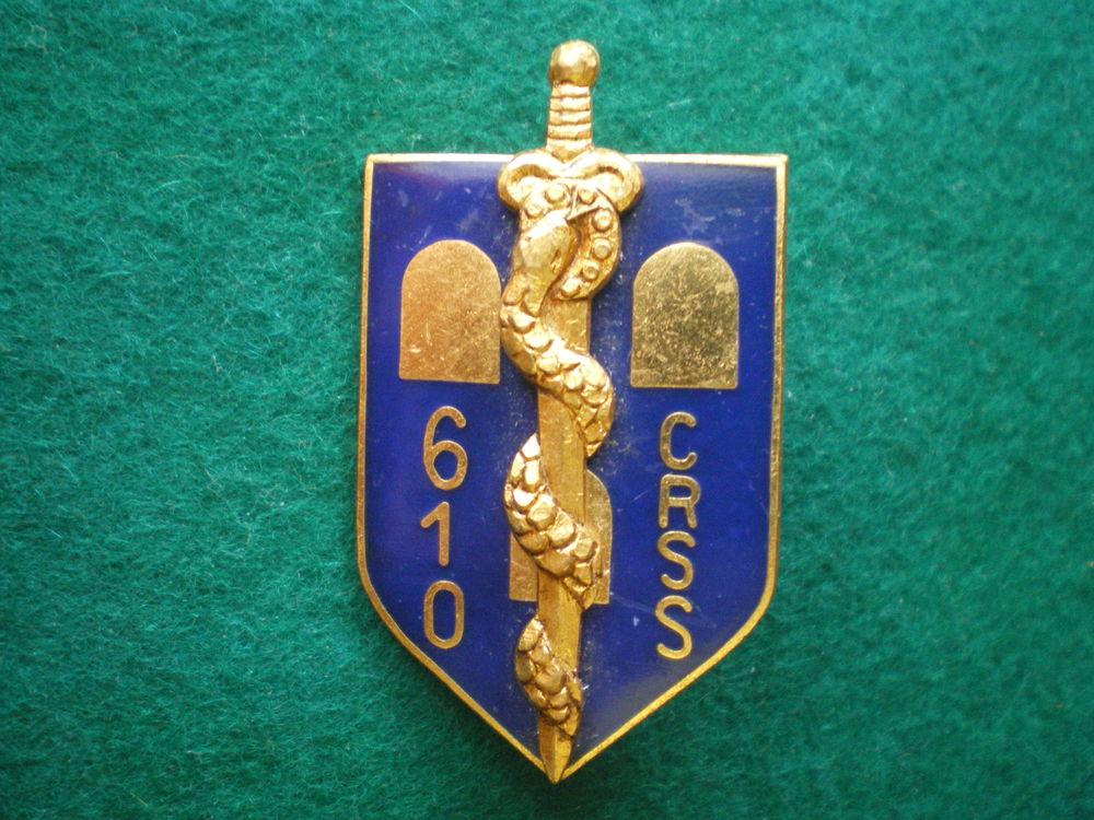 Insigne de Santé - 610° C.R.S.S.Compagnie de Ravitaillement. 12 Caen (14)