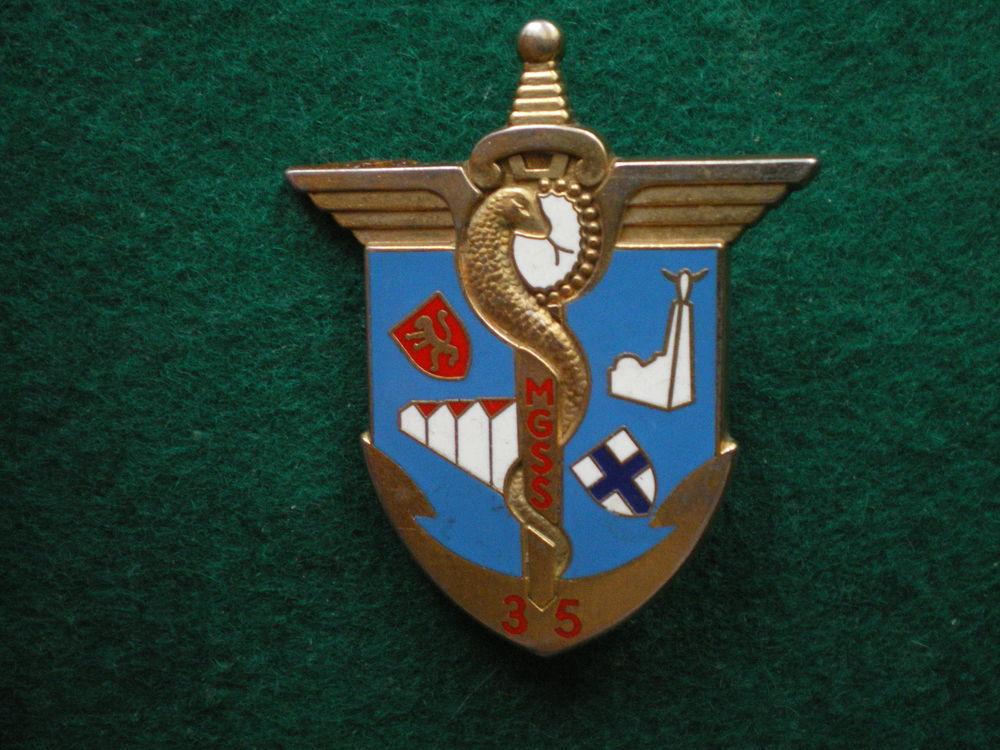 Insigne de Santé - Magasin Général Service Santé M.G.S.S 35. 12 Caen (14)