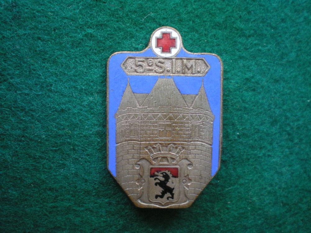 Insigne de Santé - 5° S.I.M. Section d'Infirmiers Militaires 53 Caen (14)