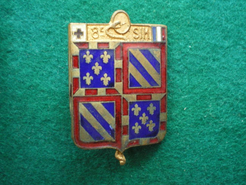 Insigne de Santé - 8° S.I.M. Section d'Infirmiers Militaires 45 Caen (14)