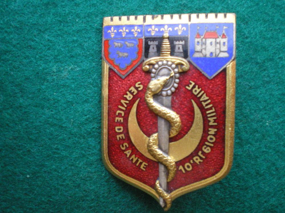 Insigne de Santé - Service de Santé 10°Région Militaire. 18 Caen (14)